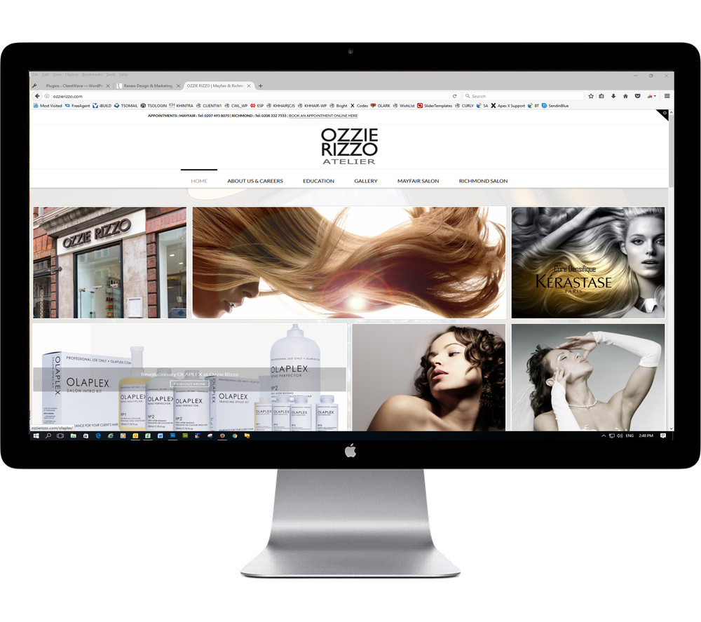Website Design for Hair salons in London