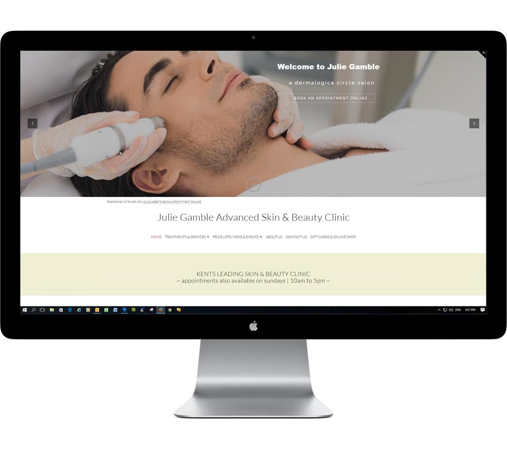 Julie Gamble Beauty Website Design