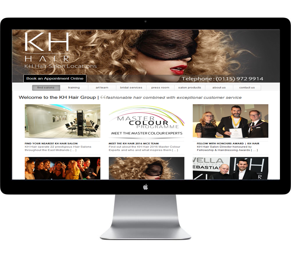 Hairdressing Salon website design