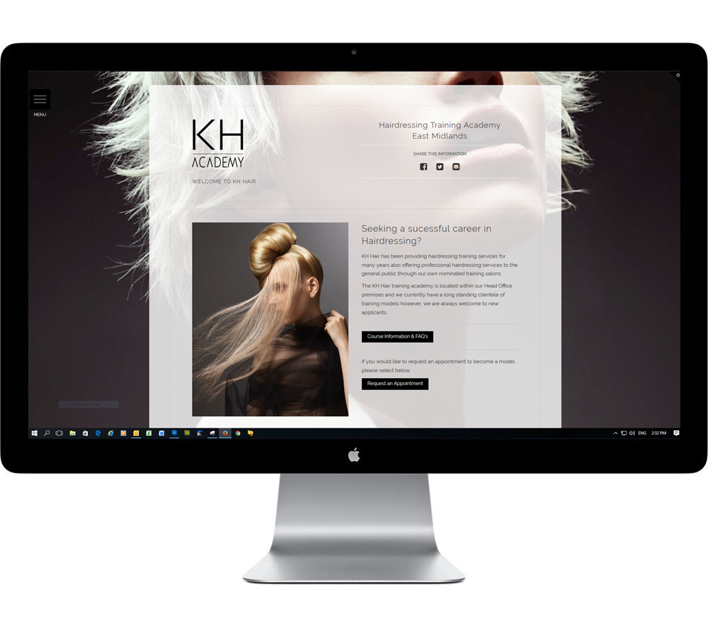 KH Hair Academy Website Design