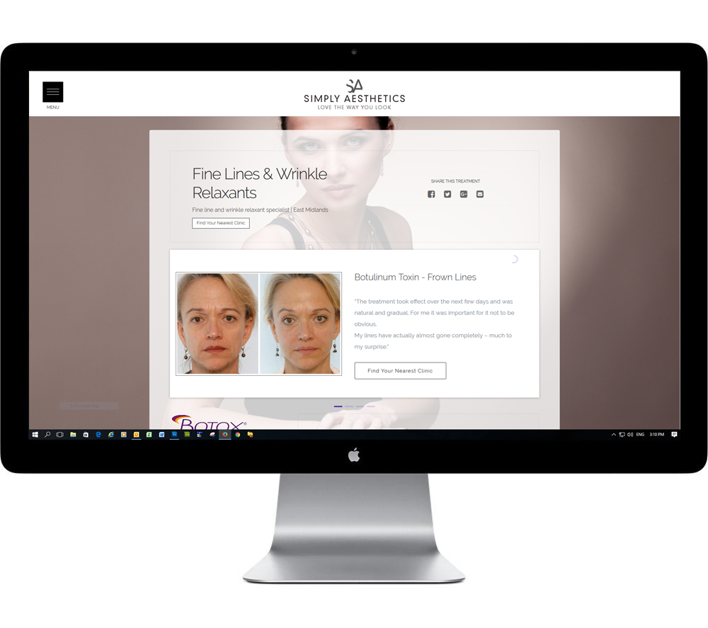 Website design for aesthetic clinics