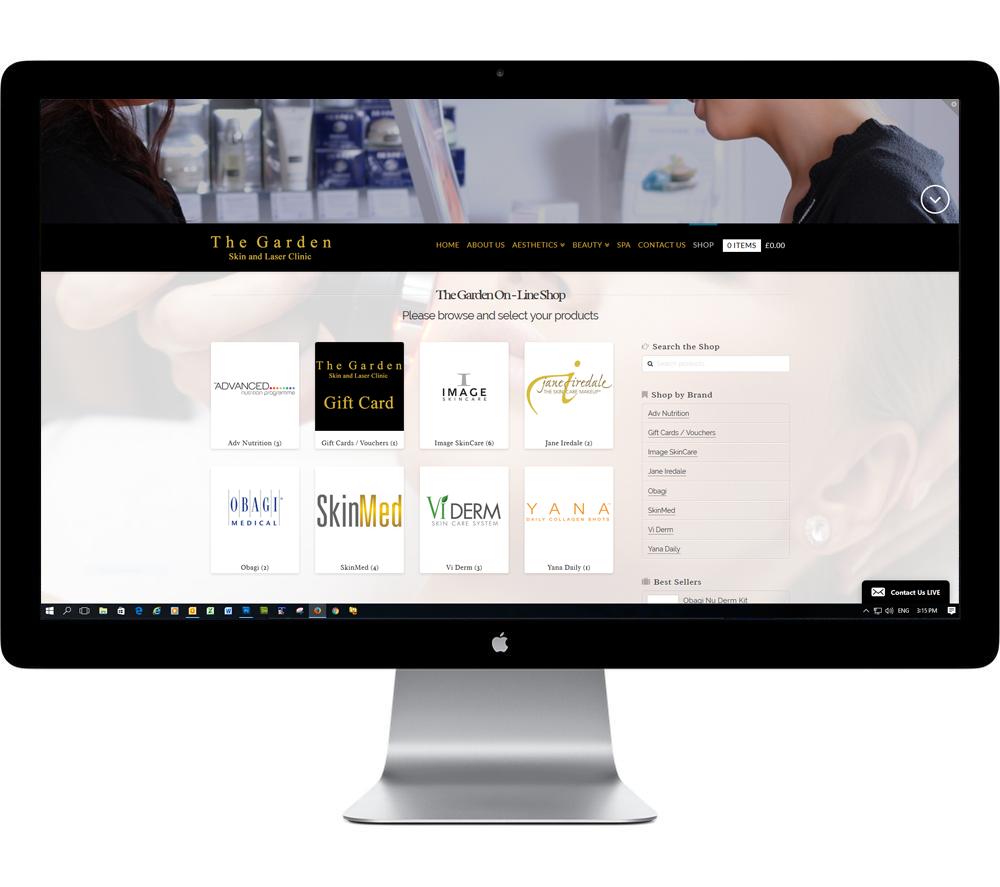 Aesthetics clinic website design london