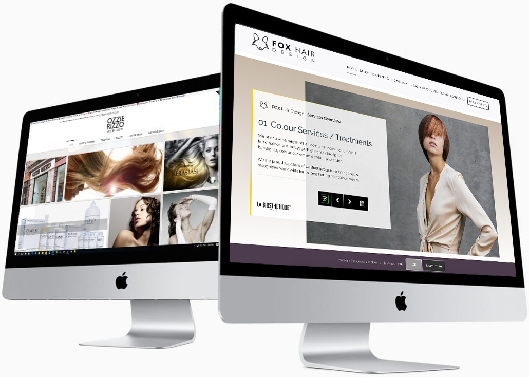Salon Website Design for Salons